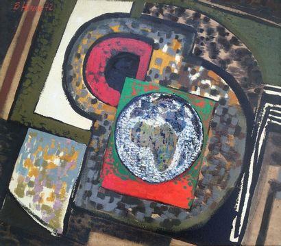 Bernard HERZOG (né en 1935)  La palette colorée...