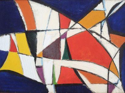 Bernard HERZOG (né en 1935)  Effluves colorées...