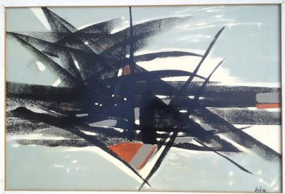 Bernard HERZOG (né en 1935)  Enchevêtrements...