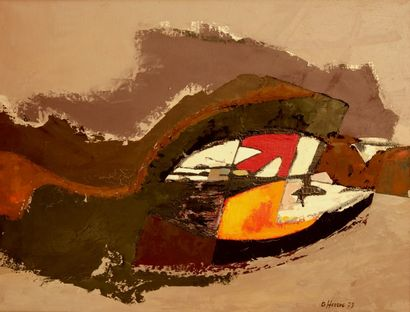 Bernard HERZOG (né en 1935)  Naissance  Huile...