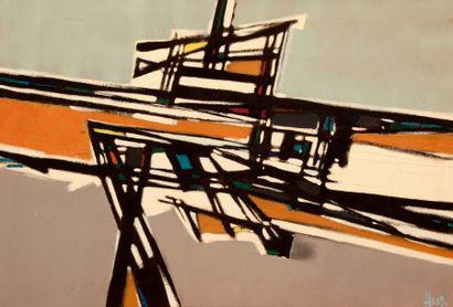Bernard HERZOG (né en 1935)  Abstraction...