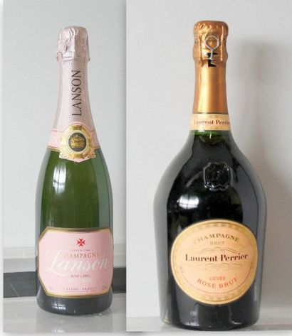 2 Bouteilles CHAMPAGNE ROSE : 1 Bouteille...