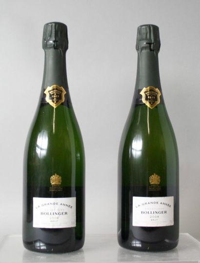 2 Bouteilles CHAMPAGNE BOLLINGER Grand année...