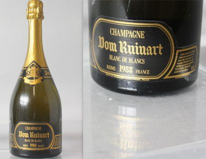 1 Bouteille CHAMPAGNE DOM RUINART Blanc des...
