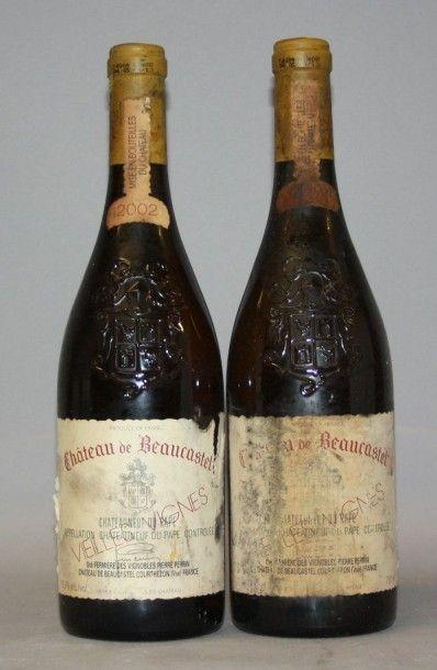 2 Bouteilles CHÂTEAU DE BEAUCASTEL BLANC...