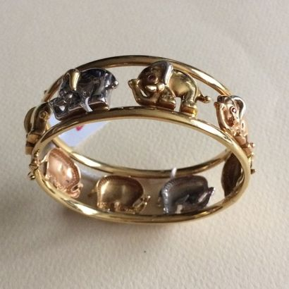 Bracelet jonc en or 750 millièmes ajouré...