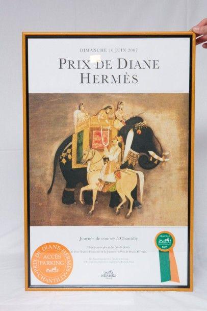 HERMES Paris  Lot de 9 affiches du Prix de...