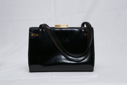 GUCCI Made in Italy  Sac à main en cuir noir...