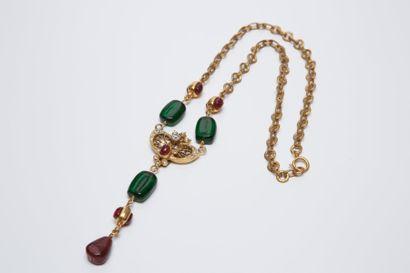 CHANEL circa 1985  Long collier