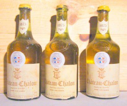 3 bouteilles - CHATEAU CHALON 1975 Étiquettes...