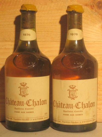 2 bouteilles - CHATEAU CHALON 1976 Étiquettes...