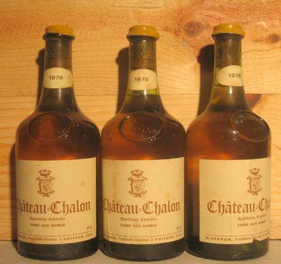 3 bouteilles - CHATEAU CHALON 1976 Étiquettes...