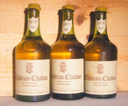 3 bouteilles - CHATEAU CHALON 1979 Niveau...
