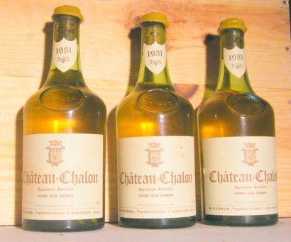 3 bouteilles - CHATEAU CHALON 1981 Niveau...