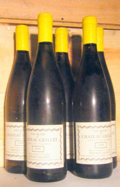 5 bouteilles - CHATEAU GRILLET 1989