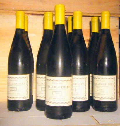 9 bouteilles - CHATEAU GRILLET 1990