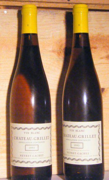 2 bouteilles - CHATEAU GRILLET 1992