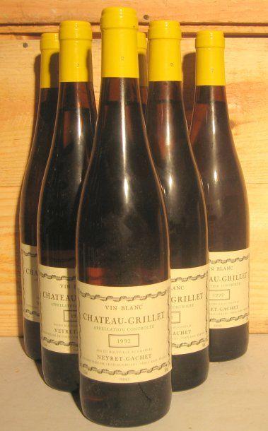 6 bouteilles - CHATEAU GRILLET 1992