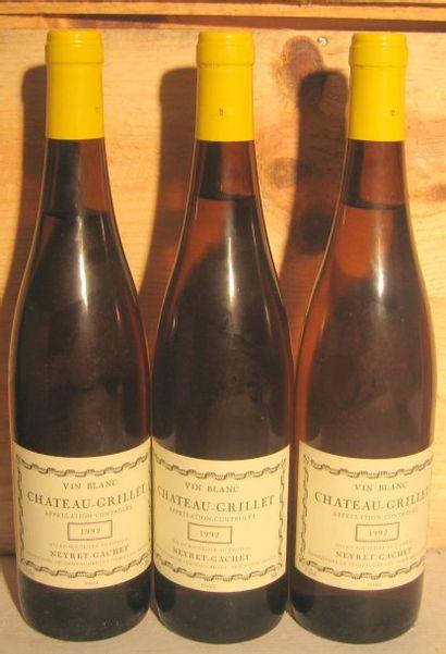 3 bouteilles - CHATEAU GRILLET 1992 Niveau...