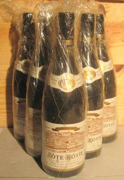 6 bouteilles - COTE ROTIE LA MOULINE, GUIGAL...