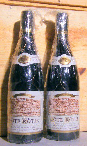 2 bouteilles - COTE ROTIE LA MOULINE, GUIGAL...
