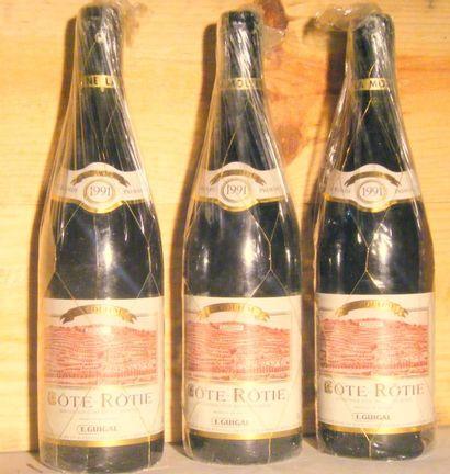 3 bouteilles - COTE ROTIE LA MOULINE, GUIGAL...