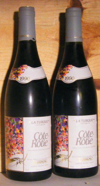 2 bouteilles - COTE ROTIE LA TURQUE, GUIGAL...