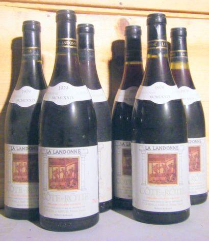 6 bouteilles - COTE ROTIE LANDONNE, GUIGAL...