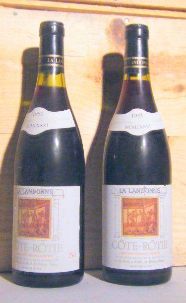 2 bouteilles - COTE ROTIE LANDONNE, GUIGAL...