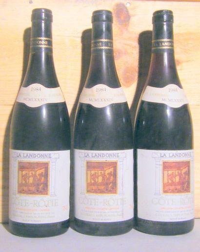 3 bouteilles - COTE ROTIE LANDONNE, GUIGAL...