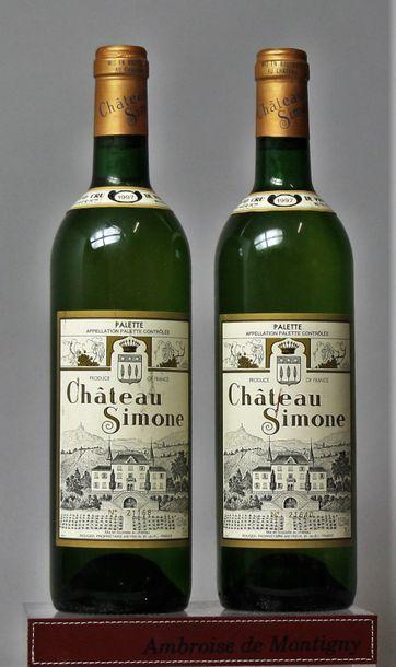 2 bouteilles CHÂTEAU SIMONE Blanc - Palette...
