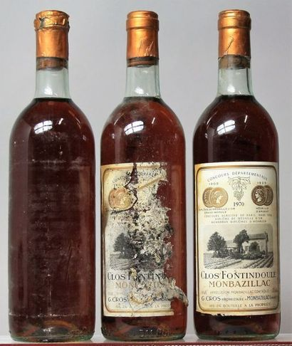 3 bouteilles MONTBAZILLAC - CLOS FONTIDOULE...