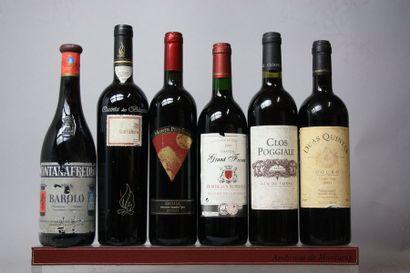 LOT de 6 bouteilles VINS DIVERS :  Italie...