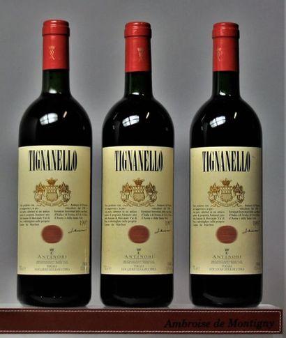 3 bouteilles Italie : TIGNANELLO - ANTINORI...