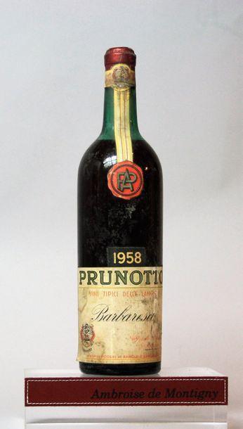 1 bouteille Italie : BARABRESCO - PRUNOTTO...