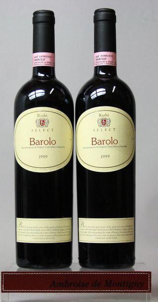 2 bouteilles Italie : BAROLO - RASHI 199...