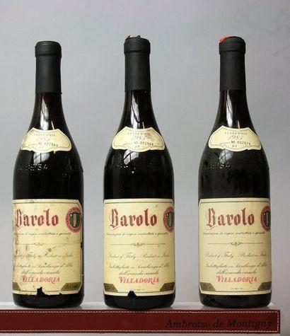 3 bouteilles Italie : BAROLO - VILLA DORIA...