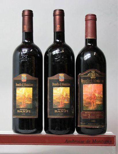 3 bouteilles Italie : BRUNELLO DI MONTALCINO...