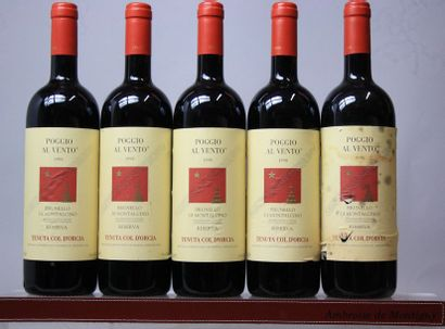 5 bouteilles Italie : BRUNELLO DI MONTALCINO...