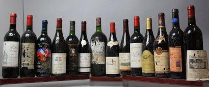 14 bouteilles VINS DIVERS France LOT VENDU...