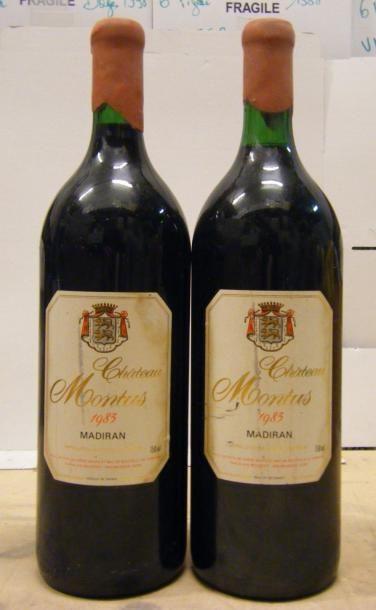 2 magnums MADIRAN CHÂTEAU MONTUS 1983 Etiquettes...