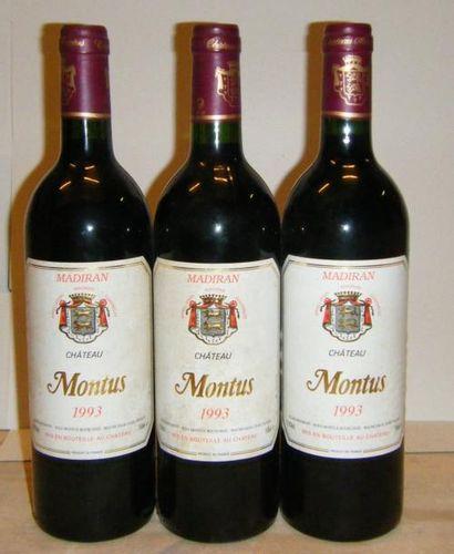 3 bouteilles MADIRAN CHÂTEAU MONTUS 1993...