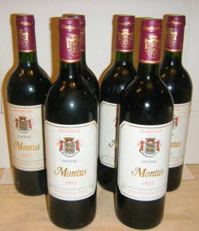 6 bouteilles MADIRAN CHÂTEAU MONTUS 1993...