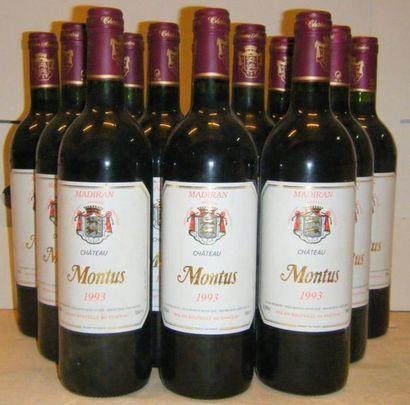 12 bouteilles MADIRAN CHÂTEAU MONTUS 1993...