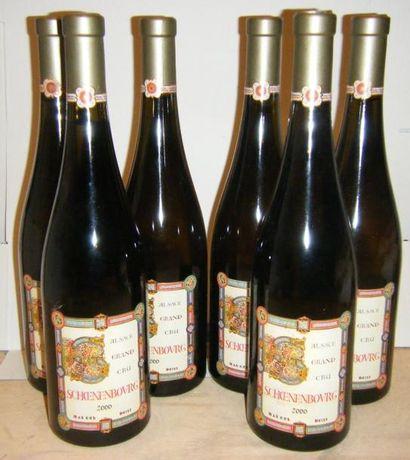6 bouteilles ALSACE GRAND CRU SCHOENENBOURG,...