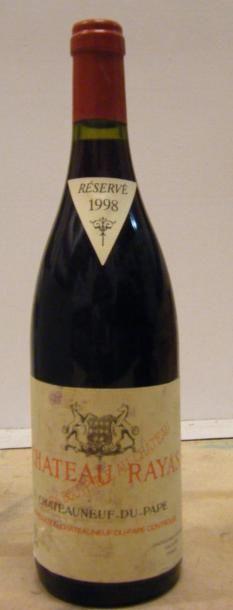 1 bouteille RAYAS 1998 Etiquette tachée....