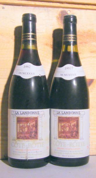 2 bouteilles LA LANDONNE 1982 Etiquettes...