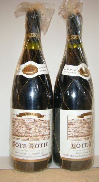 2 bouteilles LA MOULINE 1986