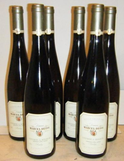 6 bouteilles ALSACE RIESLING GRAND CRU ALTENBERG...