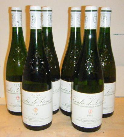 6 bouteilles CLOS DE LA COULEE DE SERRANT...